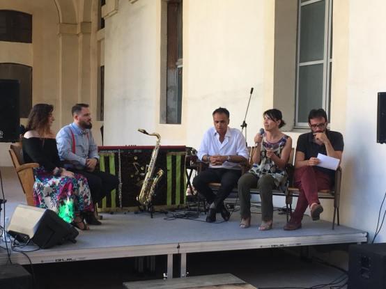 Corsini ( assessore regione Turismo ER) Proni ( sindaco di Bagnacavallo ) Fulvia e Paolo ( gestori )